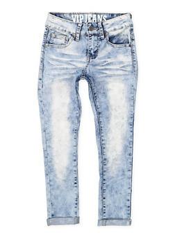 Girls 7-16 VIP Whisker Wash Jeans - 1629065300106