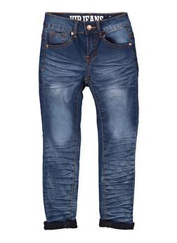 Girls 7-16 VIP Whisker Wash Jeans - 1629065300114