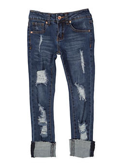 Girls 7-16 VIP Ripped Jeans - 1629065300120