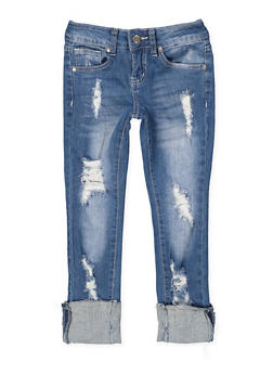 Girls 7-16 VIP Ripped Jeans - 1629065300121