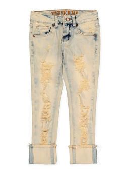 Girls 7-16 VIP Frayed Hem Jeans - 1629065300122