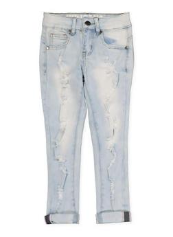 Girls 7-16 VIP Distressed Skinny Jeans - 1629065300125
