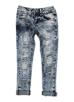 Girls 7-16 VIP Bleached Jeans - 1629065300126