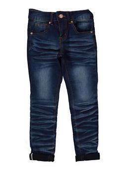 Girls 7-16 VIP Whisker Wash Jeans - 1629065300130