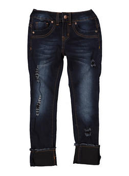 Girls 7-16 VIP Frayed Hem Jeans - 1629065300131