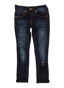 Girls 7-16 VIP Ripped Roll Cuff Jeans - 1629065300132