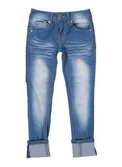 Girls 7-16 VIP Whisker Wash Jeans - 1629065300134