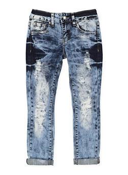 Girls 7-16 VIP Destroyed Skinny Jeans - 1629065300146