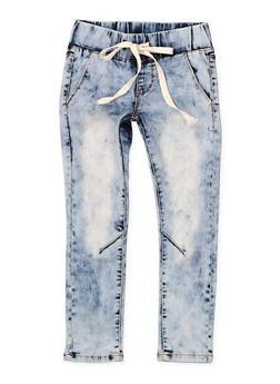 Girls 7-16 Drawstring Waist Skinny Jeans - 1629065300151