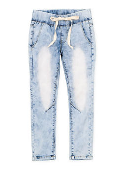 Girls 7-16 VIP Drawstring Waist Jeans - 1629065300152