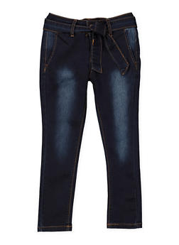 Girls 7-16 VIP Belted Jeans - 1629065300155