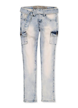 Girls 7-16 VIP Cargo Belted Jeans - 1629065300160