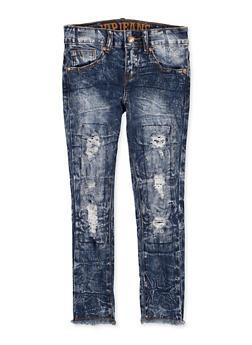 Girls 7-16 VIP Frayed Hem Jeans - 1629065300161