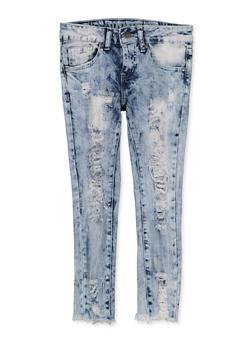 Girls 7-16 VIP Ripped Frayed Hem Jeans - 1629065300163