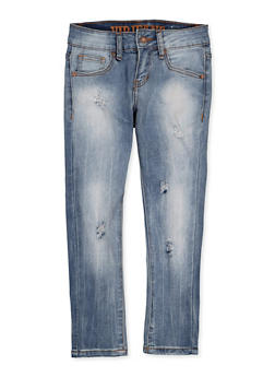 Girls 7-16 VIP Ripped Jeans - 1629065300164