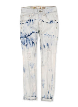 Girls 7-16 VIP Acid Wash Distressed Skinny Jeans - 1629065300166