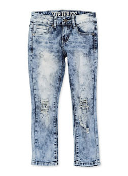 Girls 7-16 VIP Frayed Distressed Jeans - 1629065300171
