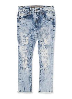 Girls 7-16 VIP Distressed Acid Wash Jeans | 1629065300172 - 1629065300172