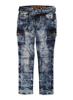 Girls 7-16 VIP Belted Cargo Jeans - 1629065300176
