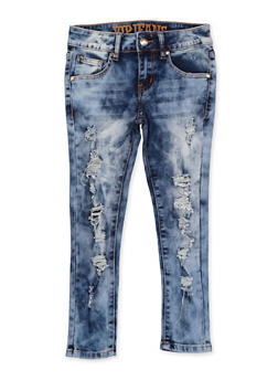Girls 7-16 VIP Distressed Frayed Jeans - 1629065300178