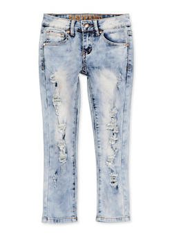 Girls 7-16 VIP Frayed Jeans - 1629065300179