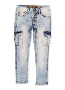 Girls 7-16 VIP 4 Button Cargo Jeans - 1629065300180