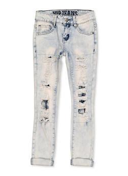 Girls 7-16 VIP Rip and Repair Jeans - 1629065300184
