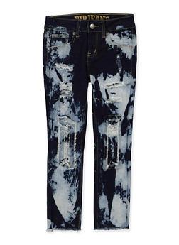Girls 7-16 VIP Rip and Repair Acid Wash Jeans - 1629065300186