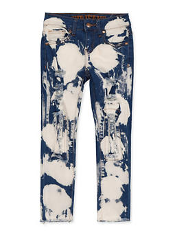 Girls 7-16 VIP Acid Wash Patch and Repair Jeans - 1629065300187
