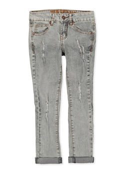 Girls 7-16 VIP Frayed Roll Cuff Jeans - 1629065300190