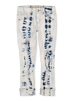 Girls 7-16 VIP Ripped Cuffed Jeans - 1629065300193
