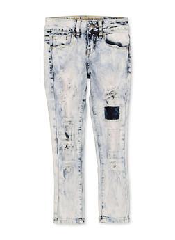 Girls 7-16 VIP Distressed Rip and Repair Jeans - 1629065300195