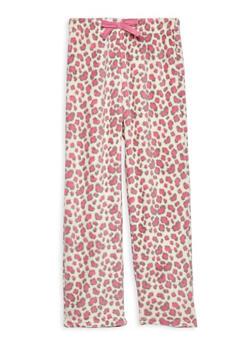 Girls 7-16 Feather Fleece Pajama Pants - GREY - 1630054730051