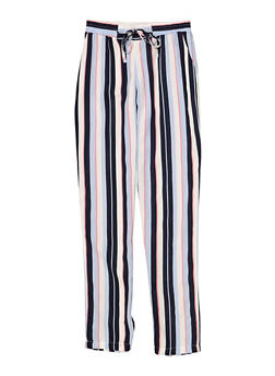 Girls 7-16 Striped Tie Front Pants - 1631051060015