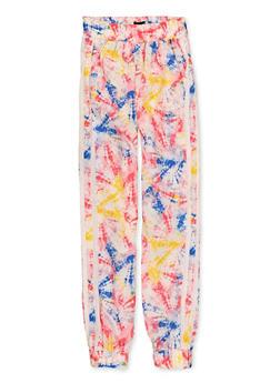 Girls 7-16 Tie Dye Pattern Windbreaker Joggers - 1631051060085