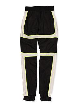 Girls 7-16 Lime Contrast Trim Windbreaker Joggers - 1631051060113