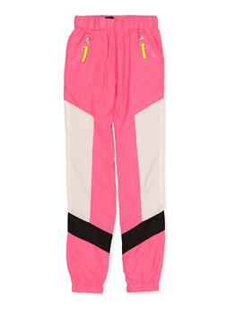 Girls 7-16 Color Block Zip Nylon Joggers - 1631051060125