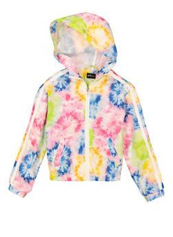 Girls Tie Dye Windbreaker Jacket - 1631051060169