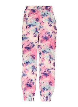 Girls Tie Dye Joggers - 1631051060196