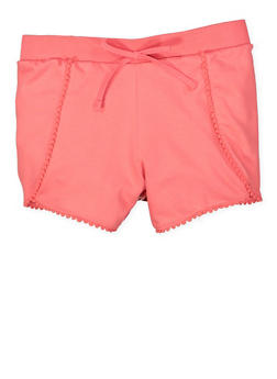 Girls 7-16 Knit Pom Pom Shorts - 1631054730041