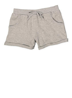 Girls 7-16 Cuffed Shorts - 1631054730051