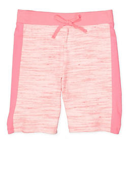 Girls 7-16 Space Dye Bermuda Shorts - 1631054730076