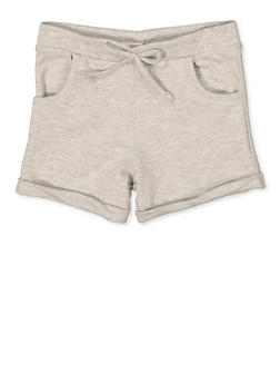 Girls 7-16 French Terry Cuffed Shorts - 1631054730080
