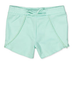 Girls 7-16 Pom Pom Trim Shorts - 1631054730085