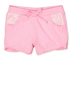 Girls 7-16 Lace Pocket Dolphin Shorts - 1631054730090