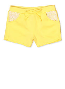 Girls 7-16 Lace Pocket Dolphin Shorts - 1631054730090