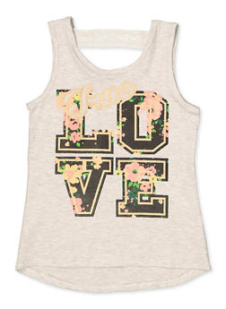 Girls 7-16 True Love Keyhole Back Tank Top - 1631054730091