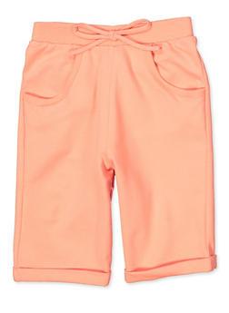 Girls 7-16 Cuffed French Terry Bermuda Shorts - 1631054730095