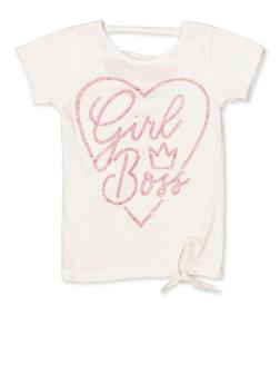 Girls 7-16 Girl Boss Glitter Graphic Tee - 1631054730096