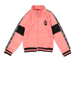 Girls 7-16 Love Tape Trim Track Jacket - 1631063370001